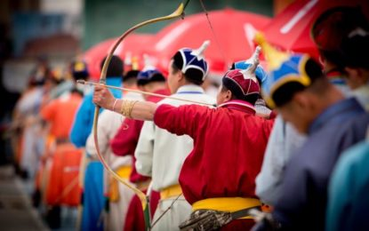 Treasures of Mongolia Naadam at the beginning of the tour